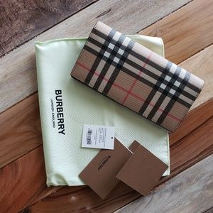 BURBERRY vintage wallet E-canvas
